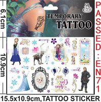 Wholesale Children Toys Cartoon Body Tattoos Sticker Frozen Elsa Anna Olaf Fashion Crystal Water Transfer Tattoo Stickers