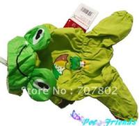 Wholesale High Fashion Pet Raing coat Dog raincoat Frog raining coat