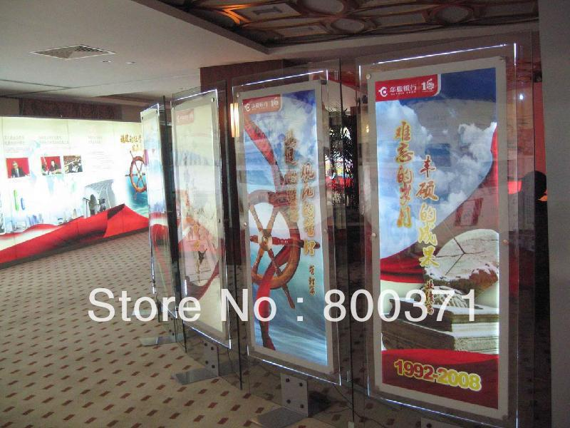 large size crystal frame advertising display led light boxacrylic led poster frame light box