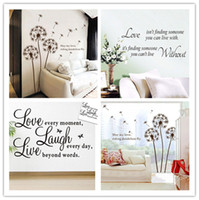 Wholesale 2014 New pc Beauty Art Word Wall Sticker Paper Wall Decal Removable Home Room Wall Decor Fit DIY CM