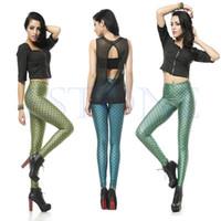 Cheap Free Shipping New Women's Fish Scale Mermaid Printing Leggings Skinny Pants Elasticity Legging