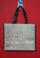 Wholesale promotion shopping bags with handle MOQ pieces gsm fabric Customized demension