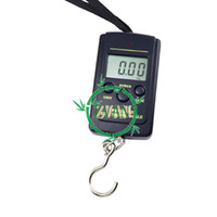 Cheap 10pcs lot Powerful 40kg x 20g Portable Mini Electronic Digital Scales Hanging Fishing Hook Pocket Weighing Scale 214