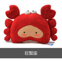 Cheap 35CM Fashion Cartoon Plush Stuffed Animal Pillow Toy Cushion plush toy 12 Constellation Astrology Birthday Gift for boys girls