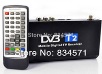 Cheap Free shippiing hot sales NEW In Car DVB-T2 Freeview Digital TV Tuner Receiver Box H.264 MPEG4 MPEG2 HDMI