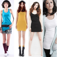 Cheap Candy Color Sleeveless Sling Top Blouses Bottoming Shirt Vest DS1168