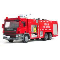 Cheap Alloy engineering car fire truck cars toy model 119 water pot fire truck