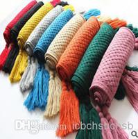 Wholesale Designer Tassels Scarves Knitted Wool Mix Color B2