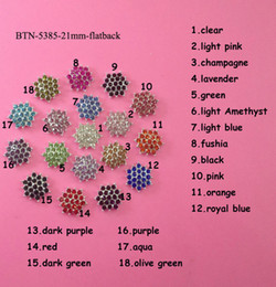 Wholesale mm crystal rhinestone button flat back embellishment for hair bow center BTN