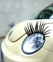 Wholesale 5pairs Fashion Car Eyelashes PVC Logo Stickers Lashes Decal Accessories new design