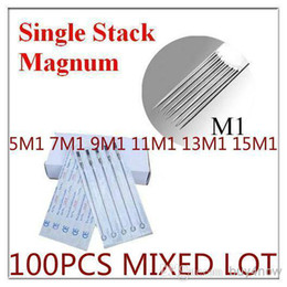 Wholesale Disposable Single Stack Magnum needles M1 M1 M1 M1 M1 M1 Assorted Type Sterilited tattoo needles for tattoo machine gun