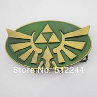 Wholesale Only belt buckle New Nintendo The Legend of Zelda Triforce New Green Game Men s Metal Belt Buckle