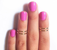 Cheap Hot sale Silver Gold Thin Shiny Rings Women's Gold Midi Knuckle Ring