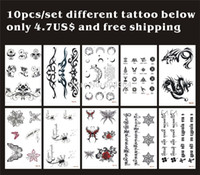 Wholesale Tattoos Sticker Temporary Flower Rose butterfly moon dragon Tibetan english letter waterproof fake tatooed body art CE