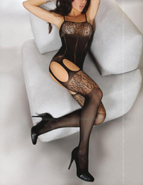 Wholesale Hot Sexy Women s Lingerie One Piece Fishnet Open Crotch Body Stocking Bodysuit