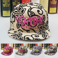 Wholesale new Hats Korea new fashion new york street tide flat brimmed hat cap hip hop hip hop hat men and women