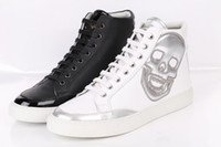 mens shoes - PHILIPP PLEIN MENS LEATH HIGH TOP SNEAKERS SHOE WHITE BALCK Brand in box