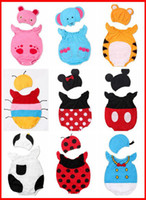 baby creepers - 2015 New Fashion Girls Baby Animal Bodysuit hats Pc Set Bee Rabbit Duck Creeper Onesie Christmas Romper Hat Hooded Rompers color Choose