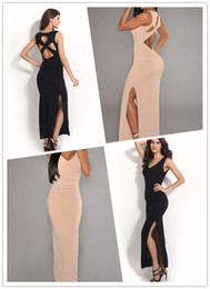 Wholesale 2015 Women Summer Maxi Dress Cut Out Back Long Design Lady s Evening Dresses B4680