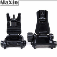ar irons - BUIS AR Backup Gen Offset Front Rear Flip Up Rapid Transition Iron Back Up Sight Metal for Airsoft