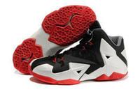 Wholesale 2014 new LEBRON XI men combat boots Rubber sole basketball shoes The official color Wild shape