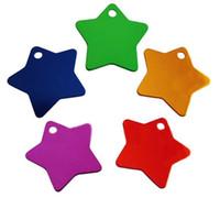 aluminium tags - hot dog star shaped id tags cm aluminium