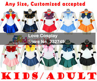 Wholesale Japanese Anime Sailor Moon Usagi Cosplay Costume Dress For Kids Women Any Size Customized accepted Halloween party