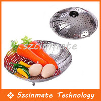 Wholesale Folding Stainless Mesh Food Dish Vegetable Fruit Steamer Basket