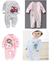 Wholesale Baby Rompers Newborn Bodysuits cotton Body Autumn Clothing ZQZ907H