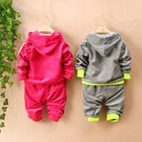 Wholesale Spring Autumn Baby Kids Tracksuit Fashion Leopard Grain Best Quality Velvet Hoodies Pants Casual Boys Girls Sport Set Children Suit QS565