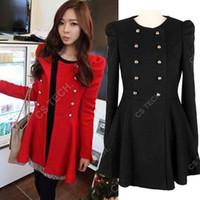 Cheap [C204] 2013 Women coat fashion overcoat  Napoleon military double breasted winter coat  jacket outerwear Military style Jacket