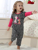 Wholesale Girl s Bodysuits Jumping Beans Baby Rompers Baby s long sleeve Pajamas Babywear Tights Baby Clothes Cotton baby Pijama Toddler ZQZ908H