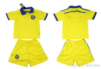 Cheap Wholesale - 2014-15 Chelsea Yellow Away Youth Soccer Jerseys Kids Football Uniforms High Quality New Season Club Team Soccer Kits for Kids C