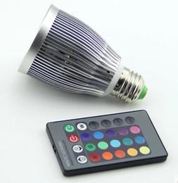 High quality COB 15W RGB LED Bulb AC85-265V E27 Color Changeable RGB LED Lamp with IR remote control free shipping