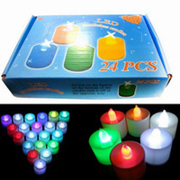 Wholesale Plastic LED Electronic Candle Lights For Christmas Party Wedding Dinner Bedroom Lamp box GNO