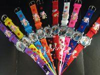 Wholesale 10PCS set Frozen Anna Elsa Quartz Children Cartoon Watch Sofa Silica gel Belt Gift Kid D Watches Hot New Movie