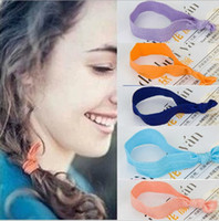 twist tie - Candy colored hair rope HairTies Ponytail Holders Emi twist foe yoga jay ribbon elastic band ties Frozen A744