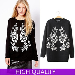 Wholesale Casual Knitted Pullover Sweater New Women Sweater Desigual Sweaters Winter Jumper Tricotado Crochet Poncho Printed Pullovers