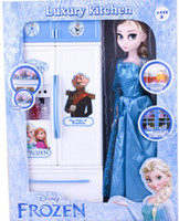 Wholesale free shpping DHL FROZEN Toys Ice and snow country toys Play house suit kitchenware doll series new