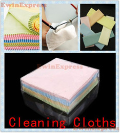 Wholesale Eyeglasses Accessories X New Microfiber Cleaner Camera Lens Glasses Cleaning Cloths Duster Polisher Dust