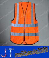 Wholesale NEW Pockets High Visibility Adult Traffic Reflective Safety Vest Sanitation Worker Reflective Vests Fishing MYY658A