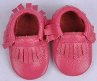 Winter ankle moccasins - 2015 new infant baby moccasins soft Head layer cowhide leather moccs baby booties toddler shoes pc pairs fedex ems ship melee