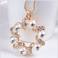 Wholesale 2014 New Woman Fashion Clothes Accessories Girl Pearl Pendant Necklace Women Necklace A16570