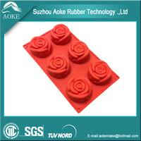 Wholesale 6 Holes Flower Shape Silicone Cake Mold Baking Pan Tray