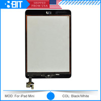 Cheap Wholesale -Full Original LCD Display For iPad Mini Touch Screen Digitizer Assembly for iPad Mini with IC Connector & Home Flex AAA Quality
