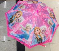 Wholesale 10pcs Quality Children s Umbrella With Cartoon Elsa and Anna honestgirl09