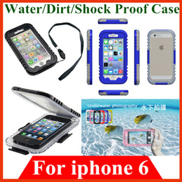 Wholesale Waterproof Snow Shock dirt water proof cases Bag Plastic cover Shell Pouch Swimming Diving Case for iphone iphone6 with retail box