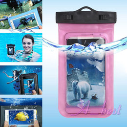 Waterproof Cases Pouchs Dry Bags With Lanyard Sports Diving Swimming Protective Outdoor PVC Phone Covers For iPhone XS MAX XR X Samsung S10e