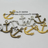 anchor charms - mm Vintage Metal Alloy Nautical Anchor Charms Jewelry Anchor Pendants