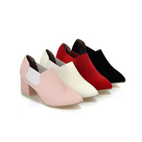 Wholesale ENMAYER Ankle Boots for Women Platform Autumn boots Pointed Toe Wedding Shoes women Elastic band oxford shoes size34